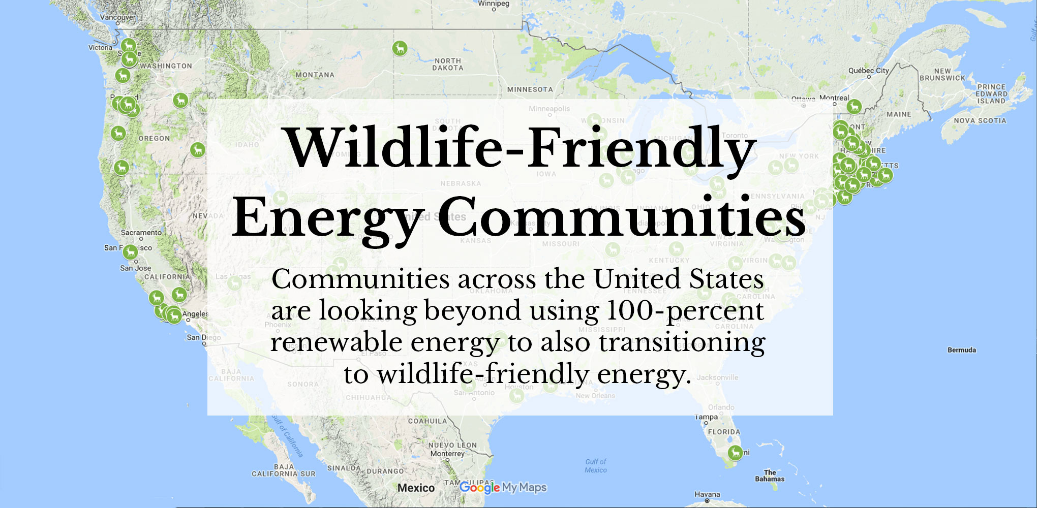 Wildlife-friendly energy communities