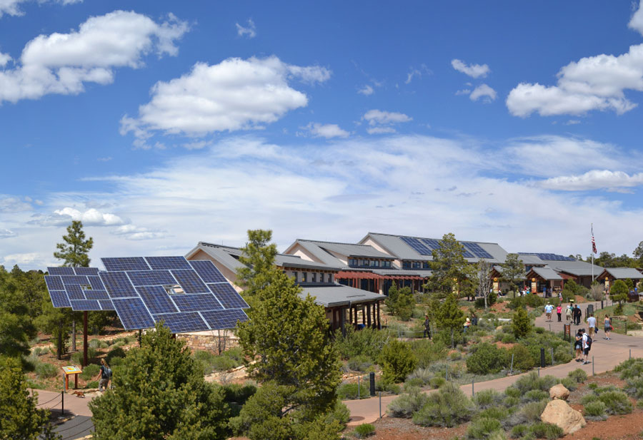 Grand Canyon National Park Visitor Center Solar Power, courtesy of Grand Canyon National Park, Flickr.